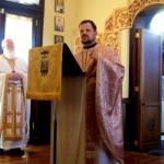 Fr. Matthew Jackson preaching