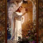 Jesus knocking at the door of the heart