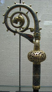 Western crosier of Archbishop Heinrich of Finstingen, 1260-1286.