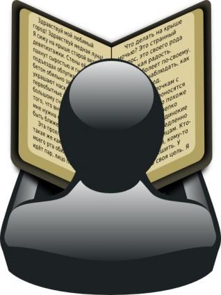 gartus-man-with-book-clip-art