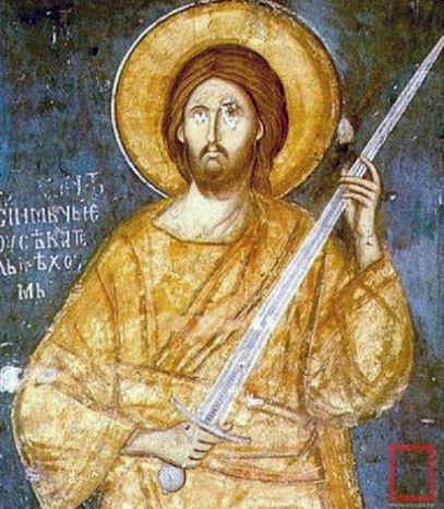 Christ w sword