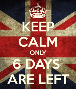 The Final countdown .. 6 days left
