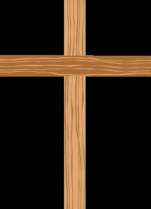 a cross of wood